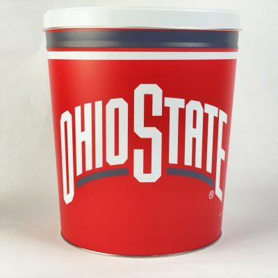 The Ohio State 3.5 gallon popcorn tin