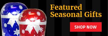 Seasonal popcorn tins call to action