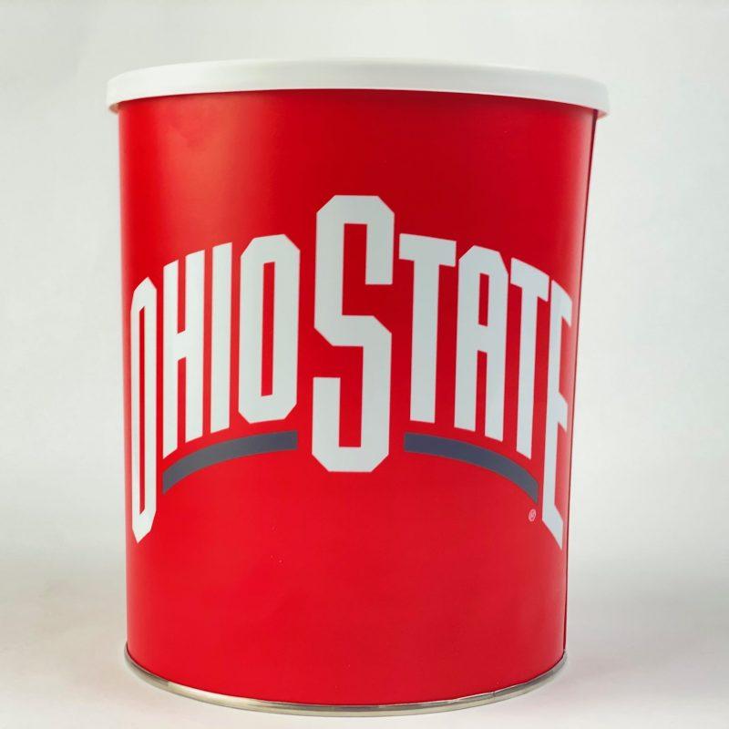 The Ohio State one gallon popcorn Tin