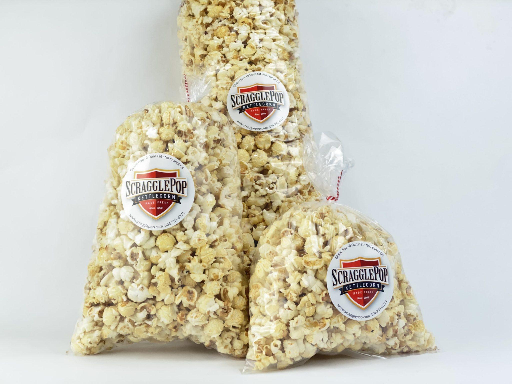 Assorted Scragglepop Kettlecorn bags