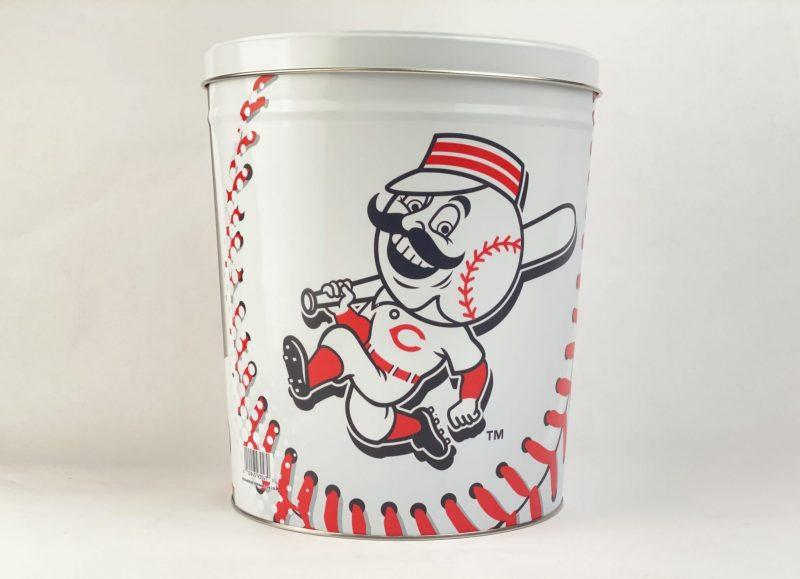 Cincinnati Reds 3.5 Gallon popcorn Tin