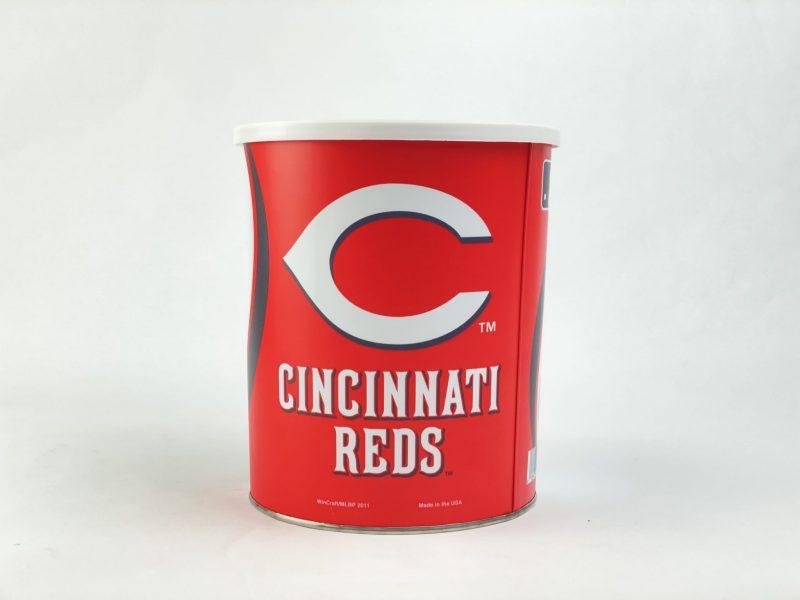 Cincinnati Reds 1 Gallon popcorn Tin