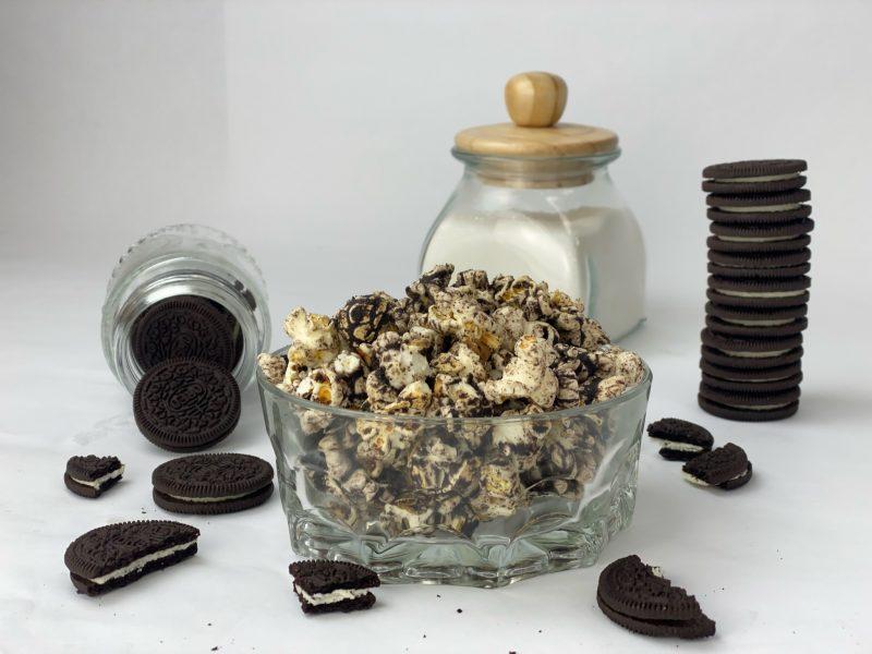 OREO cookie flavored popcorn