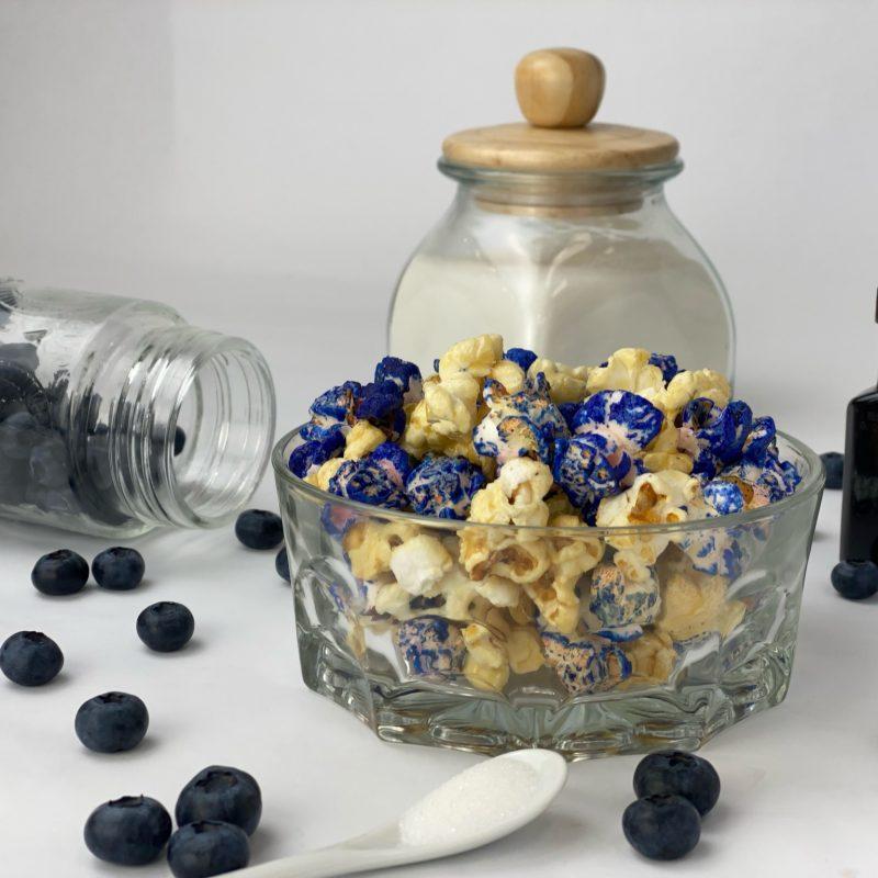 Blueberry Vanilla flavored kettlecorn