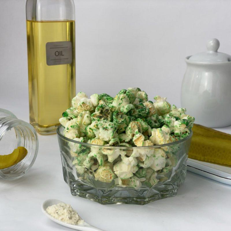 Dill flavored kettlecorn